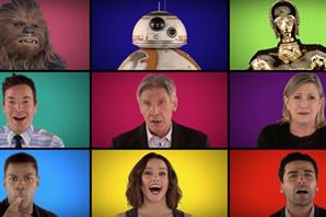 El elenco de The Force Awakens cantó el tema de Star Wars a capella