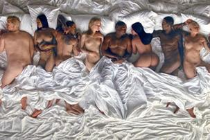 "Kanye West quiere que lo demanden por su orgiástico video de ""Famous"""